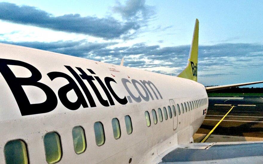 """""""AirBaltic"""" Lietuvoje pernai aptarnavo 440 tūkst. keleivių"""