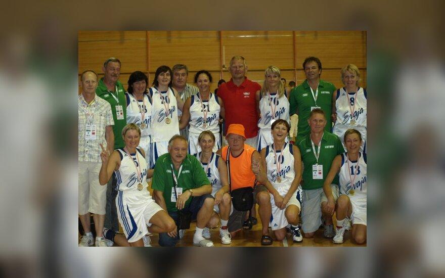 Lietuvos veteranų krepšininkų delegacija