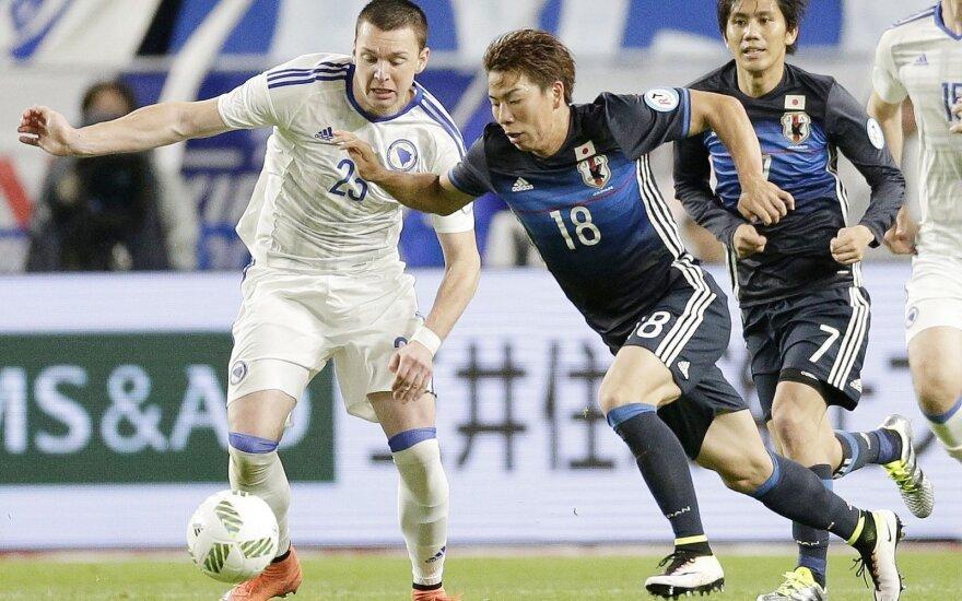 Futbolas: Japonija - Bosnija ir Hercegovina