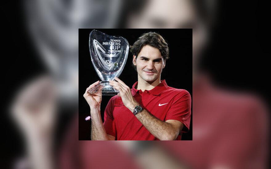 """Roger Federer su ATP """"Masters"""" taure"""