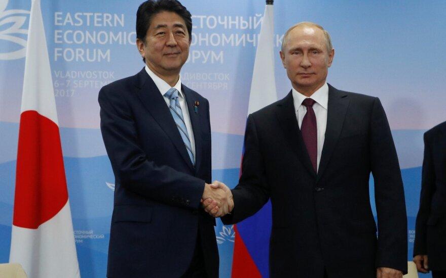 Putinas siūlo, kad Rusija ir Japonija šiemet pasirašytų istorinį taikos susitarimą