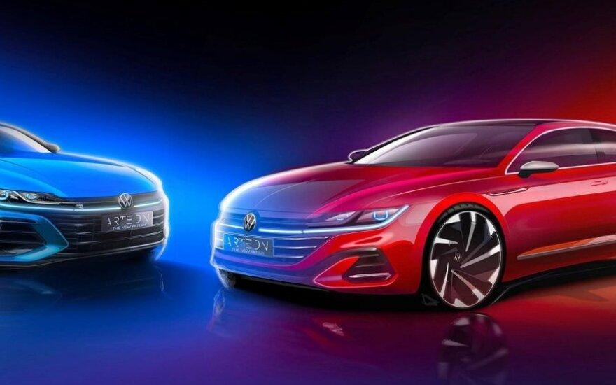 """""""Volkswagen"""" parodė, kaip atrodys naujas """"Arteon"""""""