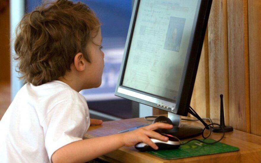 vaikas, berniukas, kompiuteris,