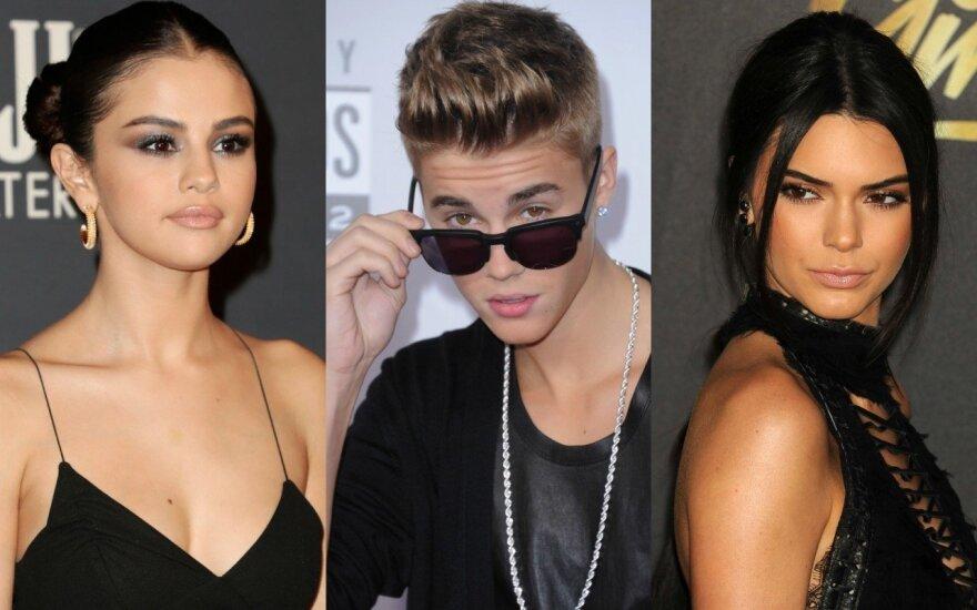 Selena Gomez, Justinas Bieberis ir Kendall Jenner