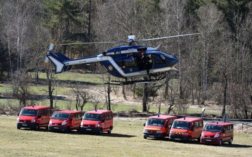Vokietijos lėktuvo sudužimo vietoje Prancūzijos Alpėse atnaujintos paieškos