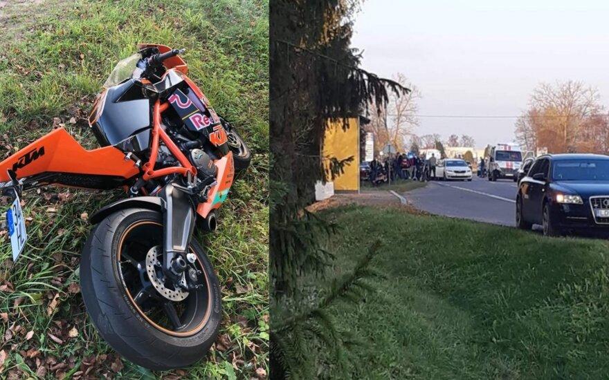 Tragiška avarija Širvintų rajone: įvykio vietoje žuvo jaunas motociklininkas