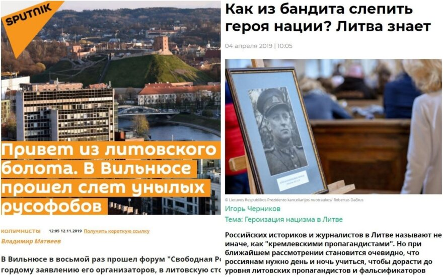 Antraštės: Pasisveikinimas iš lietuviškos pelkės. Vilniuje vyko nuobodžių rusofobų susirinkimas; Kaip iš nusikaltėlių padaromi tautos didvyriai?