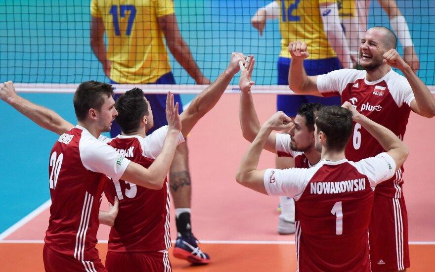 Lenkijos triumfas: tinklinio rinktinė įveikė Braziliją ir tapo pasaulio čempione