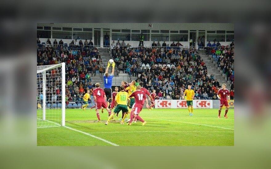 Pasaulio futbolo čempionato atranka: Latvija - Lietuva (Arno Šarkūno nuotr.)