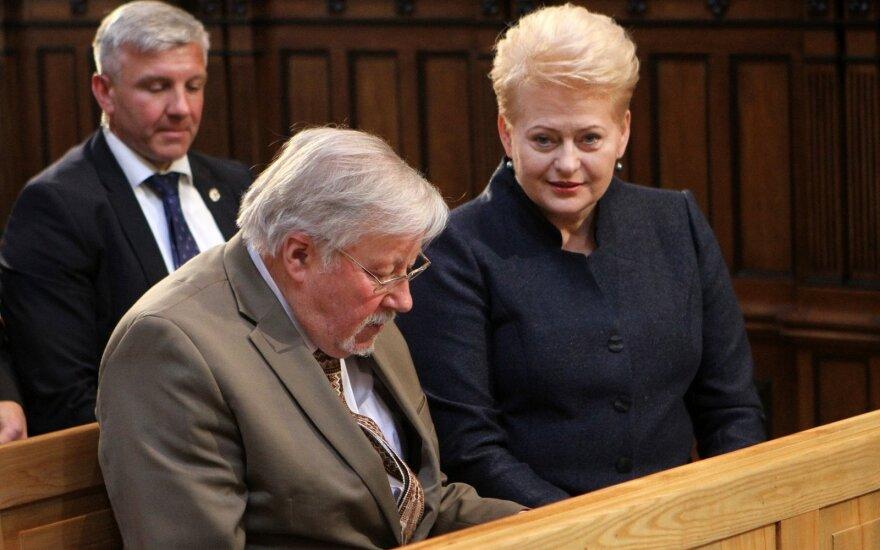 Vytautas Landsbergis and Dalia Grybauskaitė