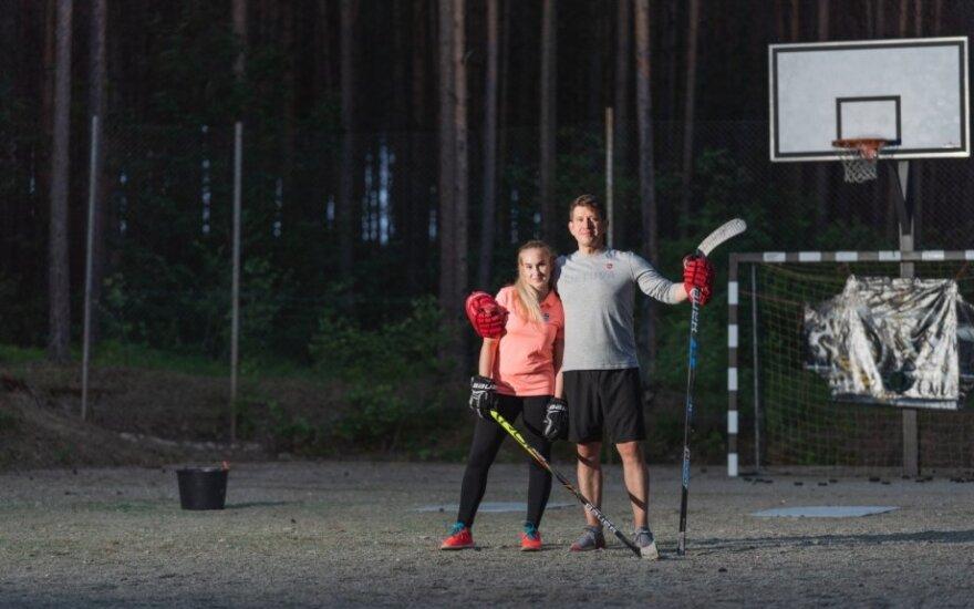 Linas Paražinskas ir jo dukra Rugilė