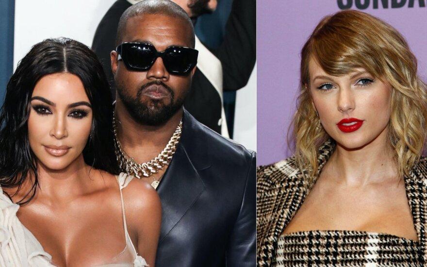 Kanye Westas su Kim Kardashian ir Taylor Swift