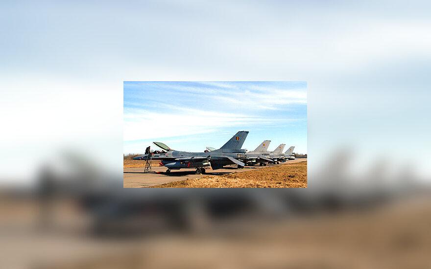 """NATO naikintuvai """"F-16"""""""