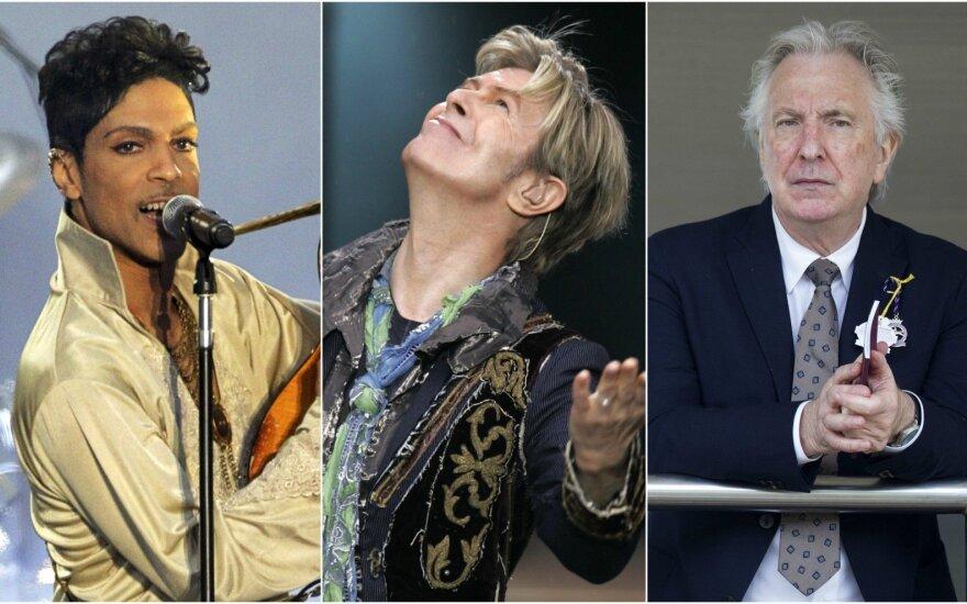 Prince'as, Davidas Bowie, Alanas Rickmanas