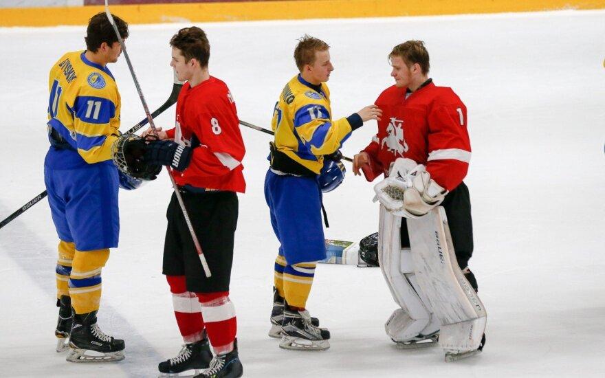 Pasaulio jaunimo ledo ritulio čempionatas: Lietuva – Ukraina (Foto: Andrey Basevich)