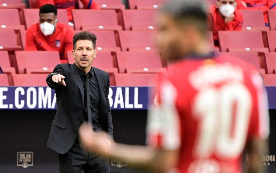 """Madrido """"Atletico"""" treneris Diego Simeone"""
