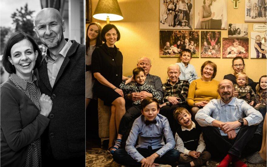 Vytautas Salinis su šeima