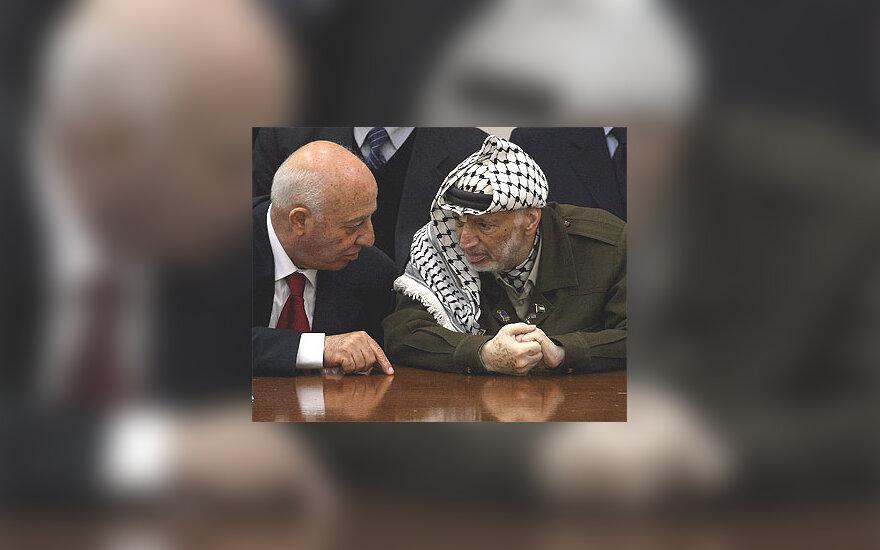Ahmed Qurie ir Yasser Arafat