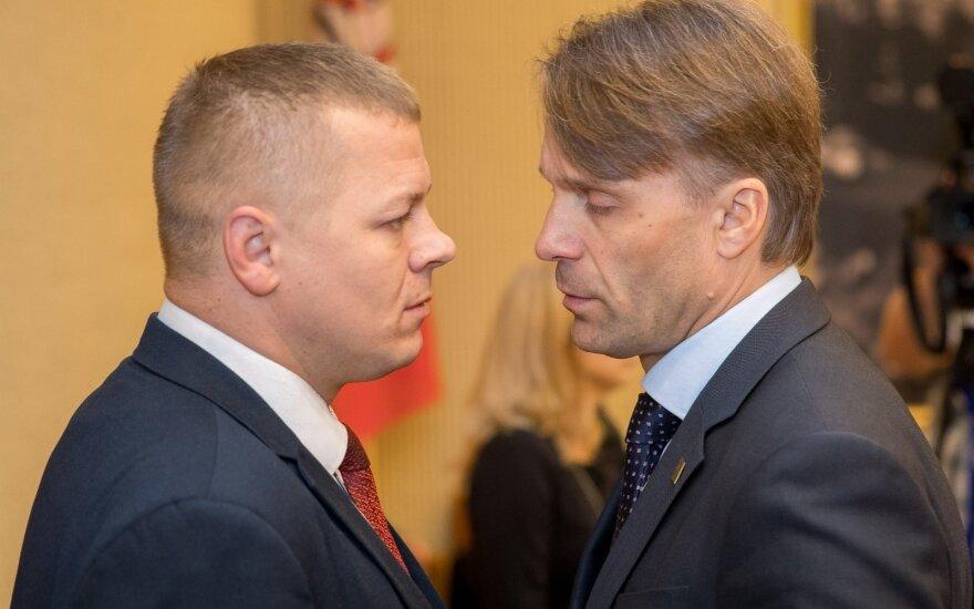 Kęstutis Smirnovas (kairėje), Edis Urbanavičius