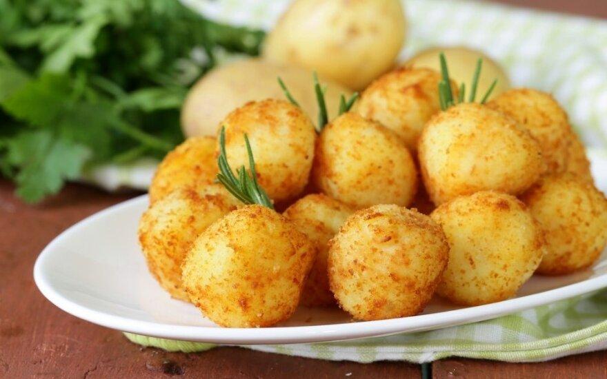 Gardūs bulvių rutuliukai su sūriu