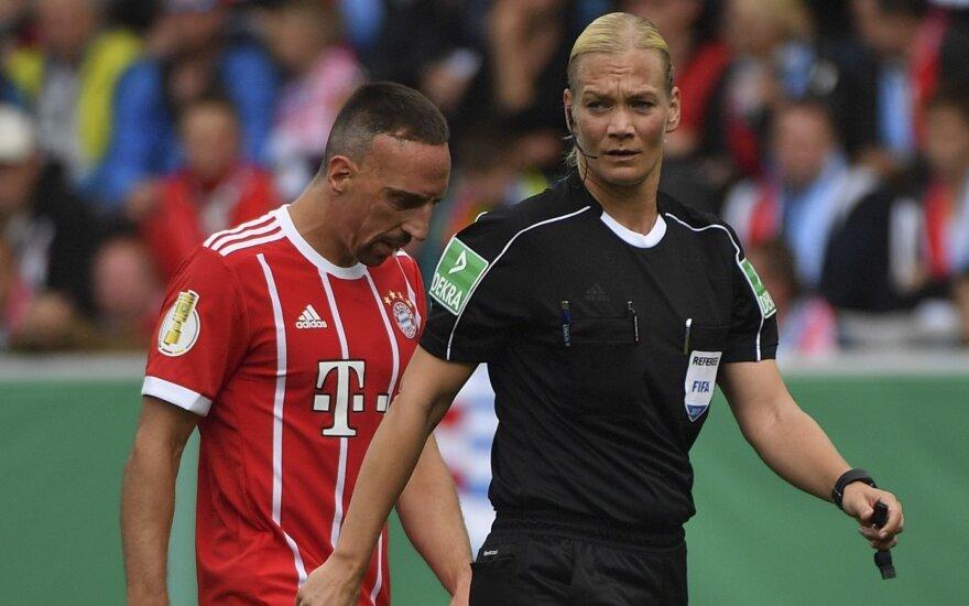 Franckas Ribery ir Bibiana Steinhaus