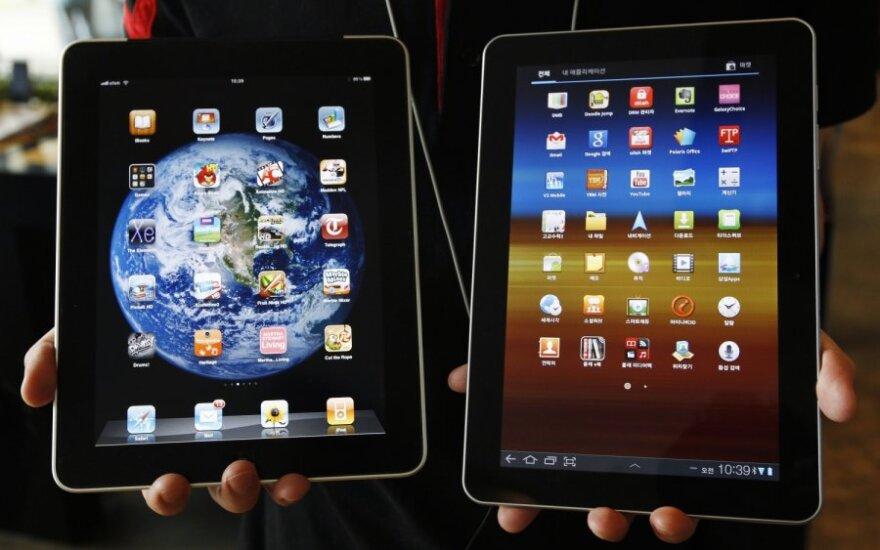 """""""Apple iPad"""" ir """"Samsung Galaxy Tab 10.1"""" planšetiniai kompiuteriai"""