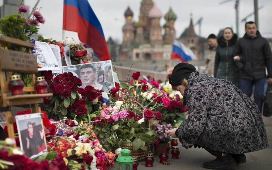 The place where Boris Nemtsov was killed in Moscow