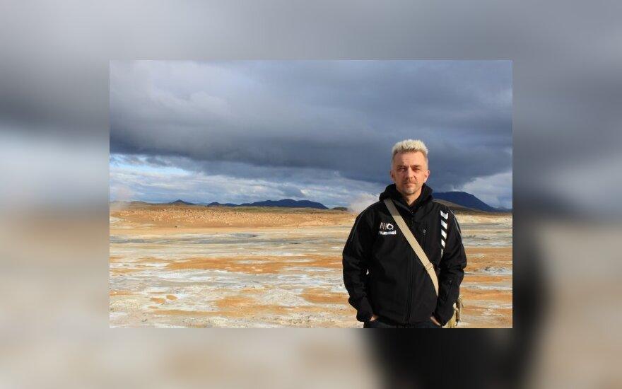 A.Mamontovas Purvo geizerių slėnyje, Islandija