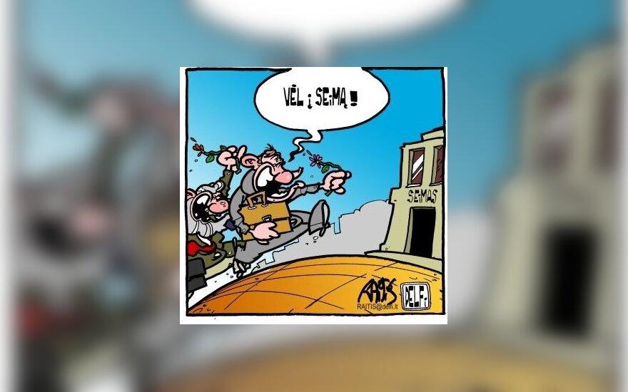 Politikai grįžta į Seimą - karikatūra