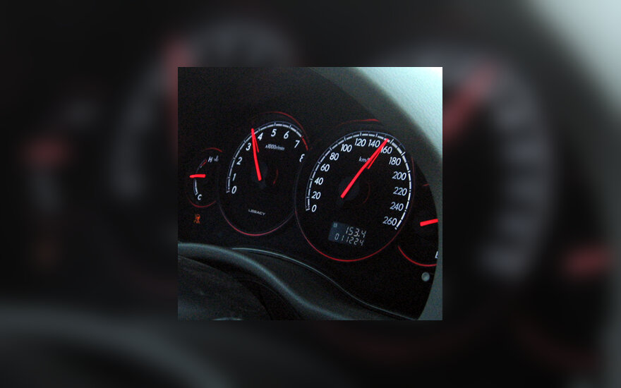 Greitis, greičio viršijimas, automobilio spidometras