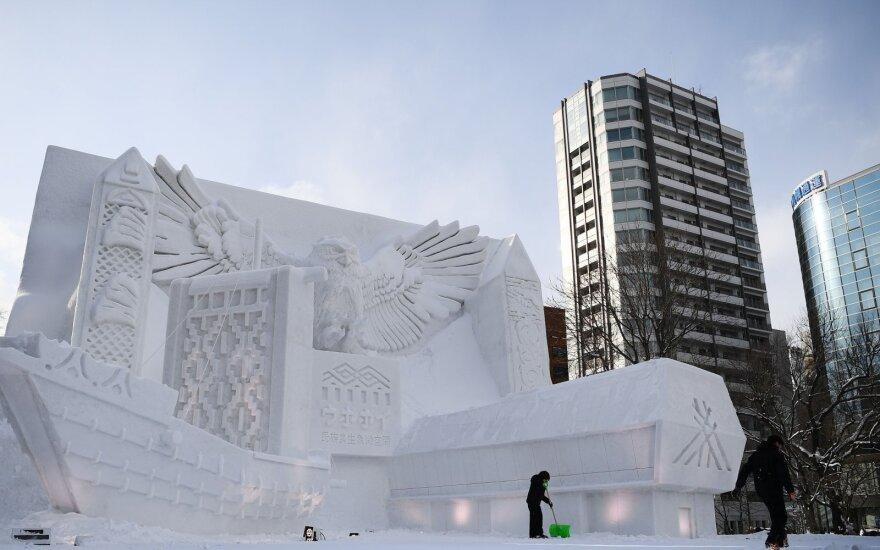 Sniego skulptūra Japonijoje