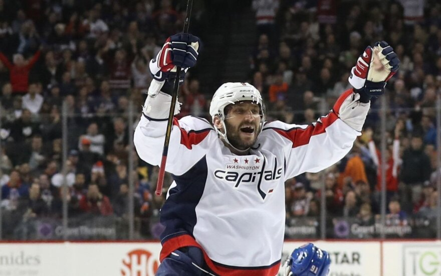 Nesustabdomas A. Ovečkinas atsidūrė per plauką nuo istorinio NHL pasiekimo