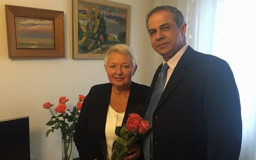 Auksutė Ramanauskaitė-Skokauskienė and Amir Maimon