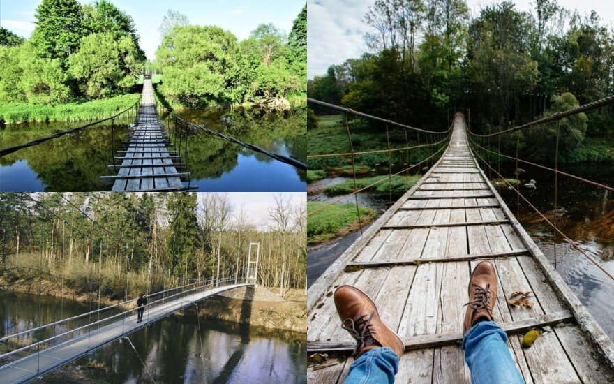 Nenuobodžioms kelionėms po Lietuvą – smagiausi kabantys tiltai Lietuvoje