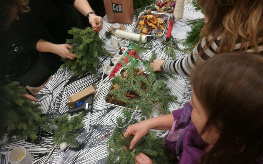 Vilniaus Genio progimnazijos mokytojai susirinko į kalėdinio suvenyro dirbtuves