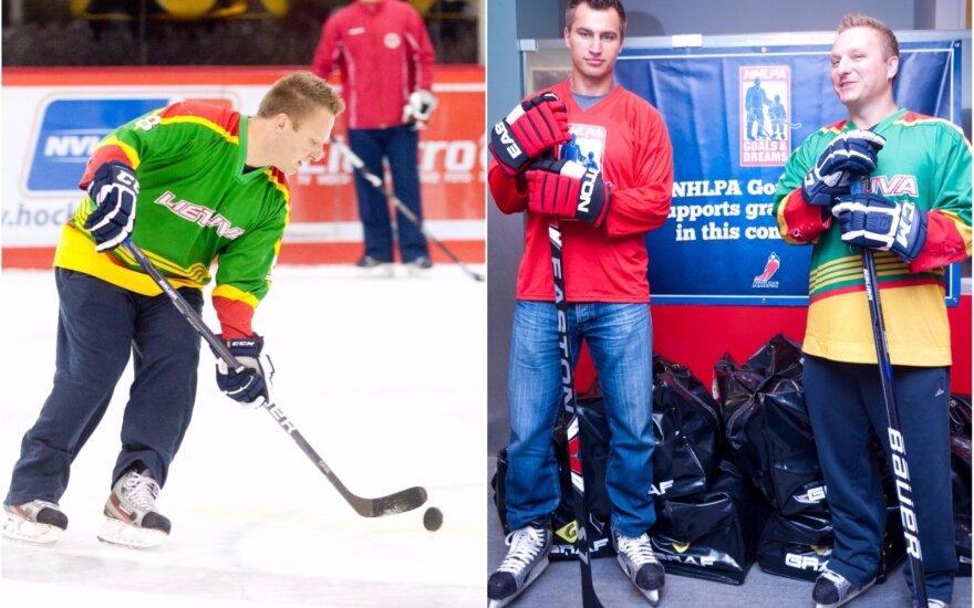 Dainius Zubrus rengiasi debiutui su Lietuvos marškinėliais (hockey.lt nuotr.)
