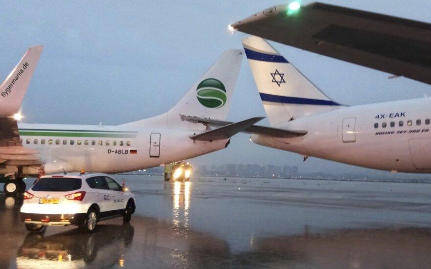 Izraelio oro uoste ant žemės susidūrė du lėktuvai