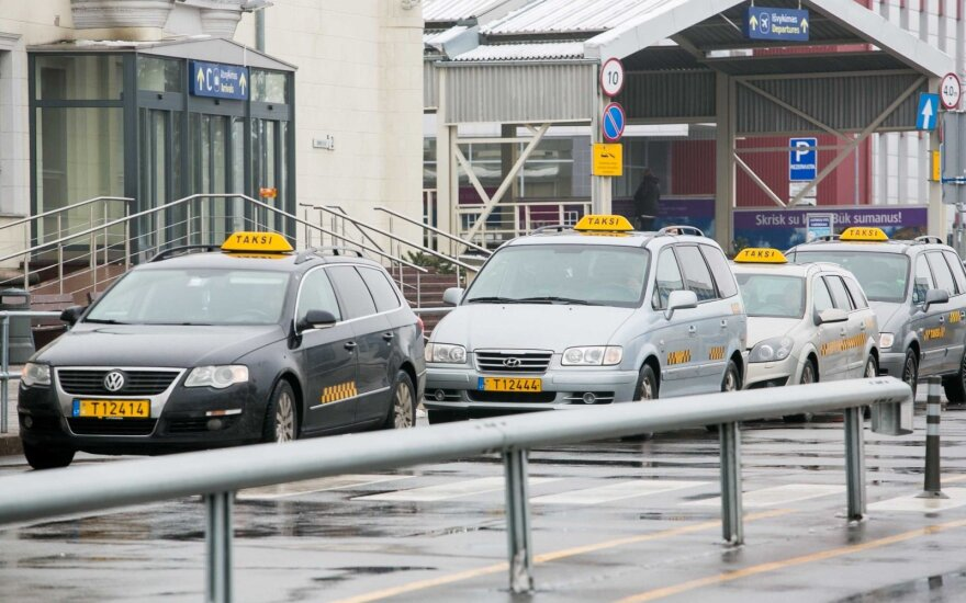 Taxis at the Vilnius Airport