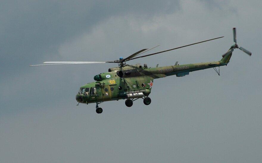 Sužeistųjų per sraigtasparnio avariją Sibire padaugėjo iki 15