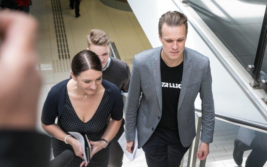Gabrielius Landsbergis savo politinę žinutę rinkėjams atsinešė ant marškinėlių