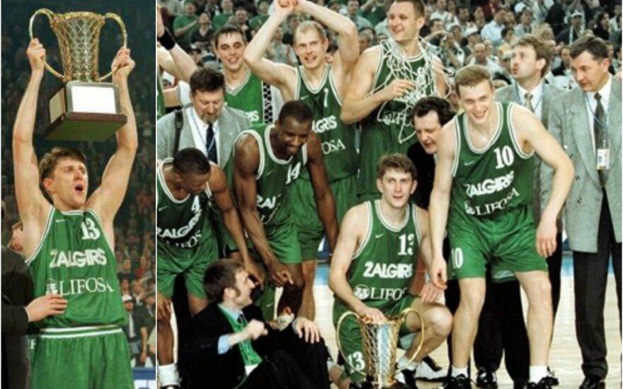 """""""Žalgiris"""" – 1999 metų Eurolygos čempionas (FIBA ir Euroleague.net nuotr.)"""