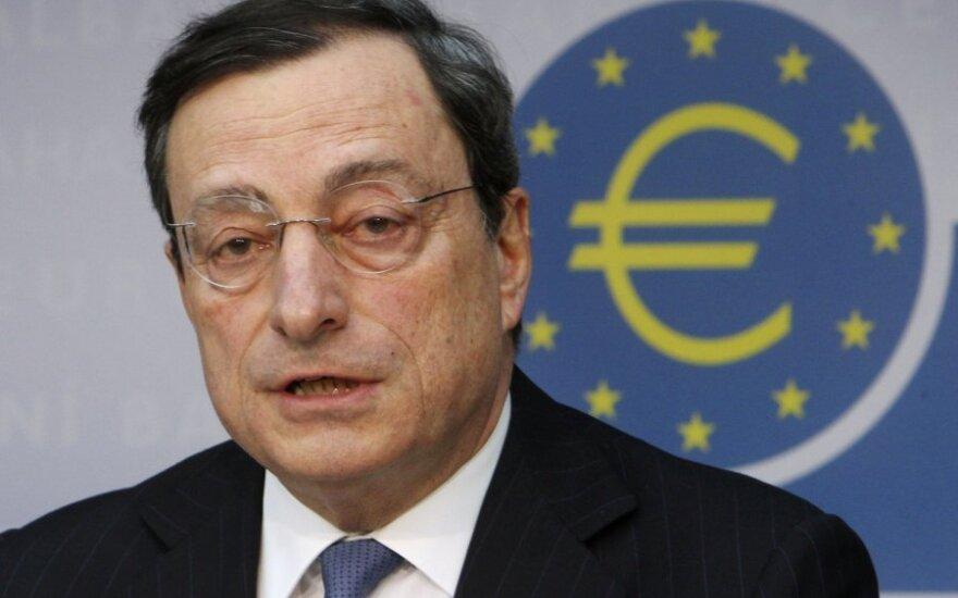 ECB vadovas atskleidė detales apie obligacijų išpirkimo planą
