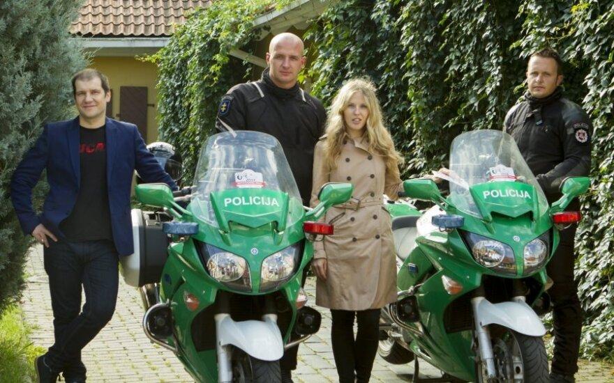 Mototurizmo ralis organizatoriai kartu su renginio partneriais – Lietuvos policija.