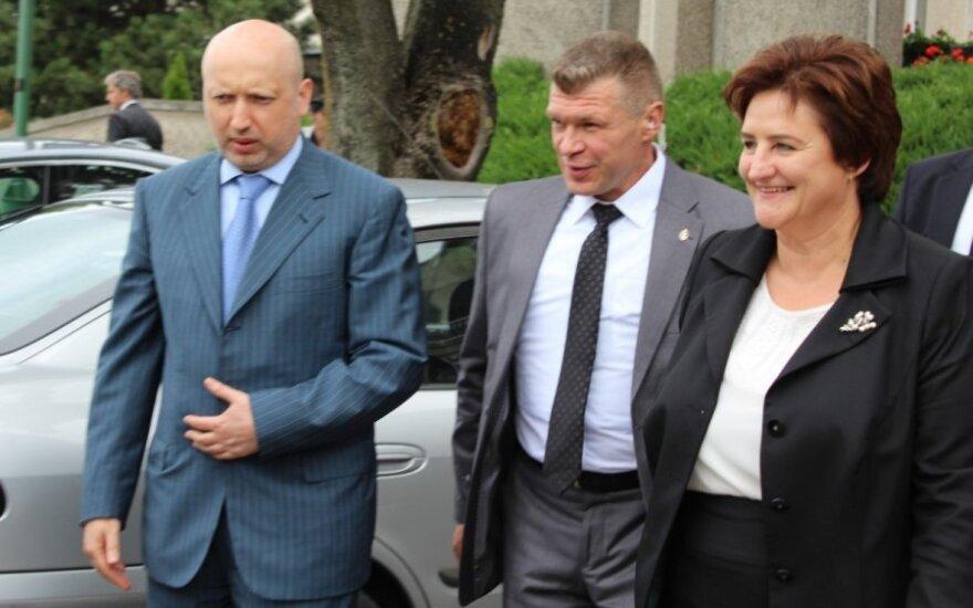 Oleksandras Turčynovas ir Loreta Graužinienė