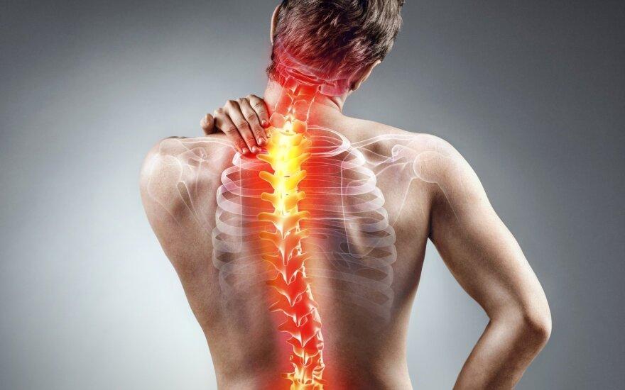 Specialistė: negrįžtamus pokyčius stubure nebūtinai signalizuoja skausmas