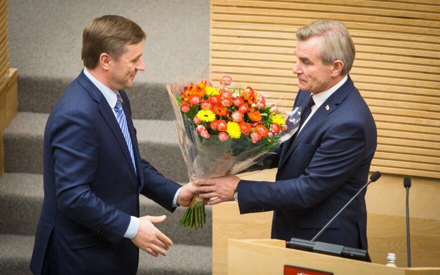 Seimo pirmininku tapo R. Karbauskio kandidatas V. Pranckietis