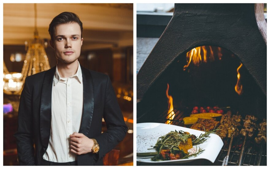 Vilniaus centre grilio restoraną atidaręs 22 m. Edvinas: nemeluosiu, buvo dienų, kai galvojau viską mesti