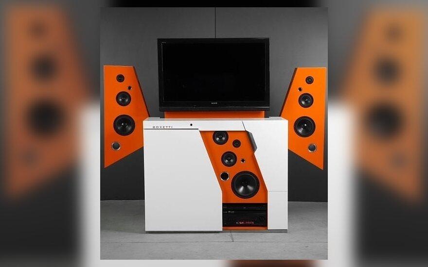 Modulinė TV ir Hi-Fi garso aparatūra dėžėje