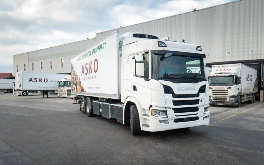 """Elektrinis """"Scania"""" sunkvežimis"""