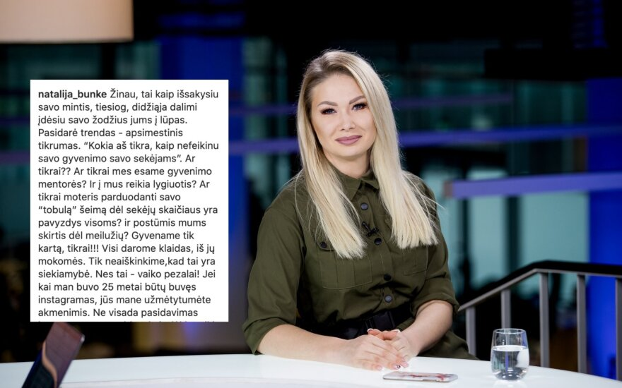 Natalija Bunkė/ Foto: Delfi, instagram